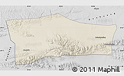 Shaded Relief Map of Aksay, desaturated