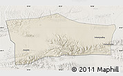 Shaded Relief Map of Aksay, lighten
