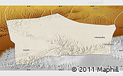 Shaded Relief Map of Aksay, physical outside