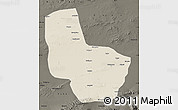Shaded Relief Map of Anxi, darken