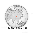 Outline Map of Anxi