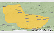 Savanna Style Panoramic Map of Anxi
