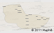 Shaded Relief Panoramic Map of Anxi, lighten