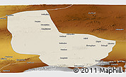 Shaded Relief Panoramic Map of Anxi, physical outside
