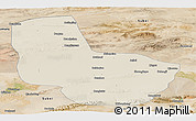 Shaded Relief Panoramic Map of Anxi, satellite outside