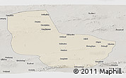 Shaded Relief Panoramic Map of Anxi, semi-desaturated