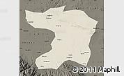 Shaded Relief Map of Gaotai, darken
