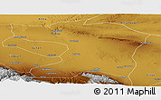 Physical Panoramic Map of Gaotai