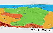 Political Panoramic Map of Gaotai