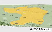 Savanna Style Panoramic Map of Gaotai