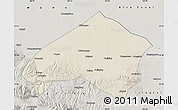 Shaded Relief Map of Gulang, semi-desaturated