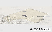 Shaded Relief Panoramic Map of Gulang, lighten