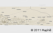 Shaded Relief Panoramic Map of Gulang