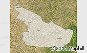 Shaded Relief Map of Huachi, satellite outside