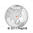 Outline Map of Huachi