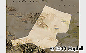 Satellite Map of Jiayuguan Shi, darken