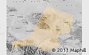 Satellite Map of Jiayuguan Shi, desaturated