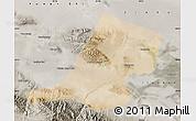 Satellite Map of Jiayuguan Shi, semi-desaturated