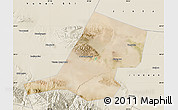 Satellite Map of Jiayuguan Shi, shaded relief outside