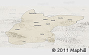 Shaded Relief Panoramic Map of Jingtai, lighten