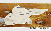 Shaded Relief Panoramic Map of Jingtai, physical outside