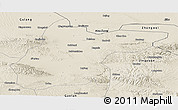 Shaded Relief Panoramic Map of Jingtai