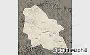 Shaded Relief Map of Jingyuan, darken