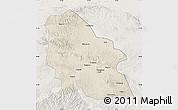 Shaded Relief Map of Jingyuan, lighten