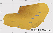 Physical Map of Jinta, cropped outside