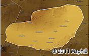 Physical Map of Jinta, darken