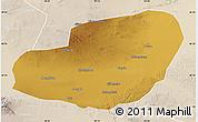 Physical Map of Jinta, lighten