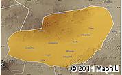 Physical Map of Jinta, semi-desaturated