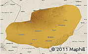 Physical Map of Jinta, shaded relief outside