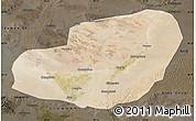 Satellite Map of Jinta, darken