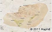 Satellite Map of Jinta, lighten