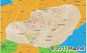 Satellite Map of Jinta, political outside