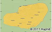 Savanna Style Map of Jinta, single color outside
