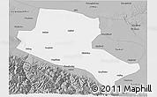 Gray 3D Map of Jiuquan
