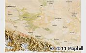 Satellite 3D Map of Jiuquan