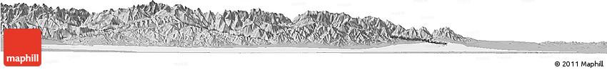 Gray Horizon Map of Jiuquan