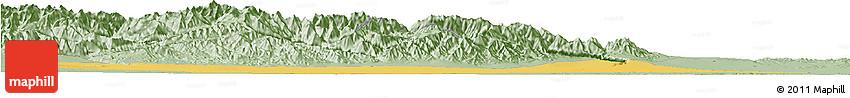 Savanna Style Horizon Map of Jiuquan