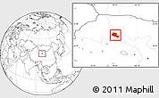 Blank Location Map of Jiuquan