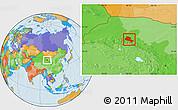 Political Location Map of Jiuquan