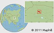 Savanna Style Location Map of Jiuquan