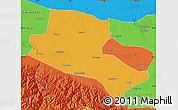Political Map of Jiuquan