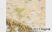 Satellite Map of Jiuquan