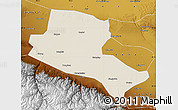 Shaded Relief Map of Jiuquan, physical outside