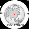 Outline Map of Jiuquan