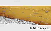 Physical Panoramic Map of Jiuquan