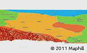 Political Panoramic Map of Jiuquan